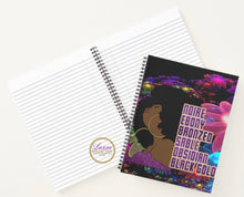 Load image into Gallery viewer, Noire Bronze Ebony Sable Obsidian Black Gold Spiral Notebook