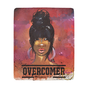Overcomer Romans 8:37 Fleece Blanket