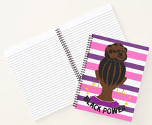 Load image into Gallery viewer, Black Power Spiral Notebooks