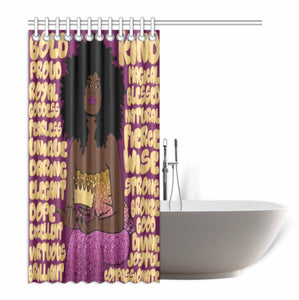 Words Of Affirmation Shower Curtain