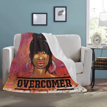 Load image into Gallery viewer, Overcomer Romans 8:37 Fleece Blanket