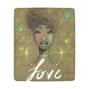 Love Goddess Fleece Blanket