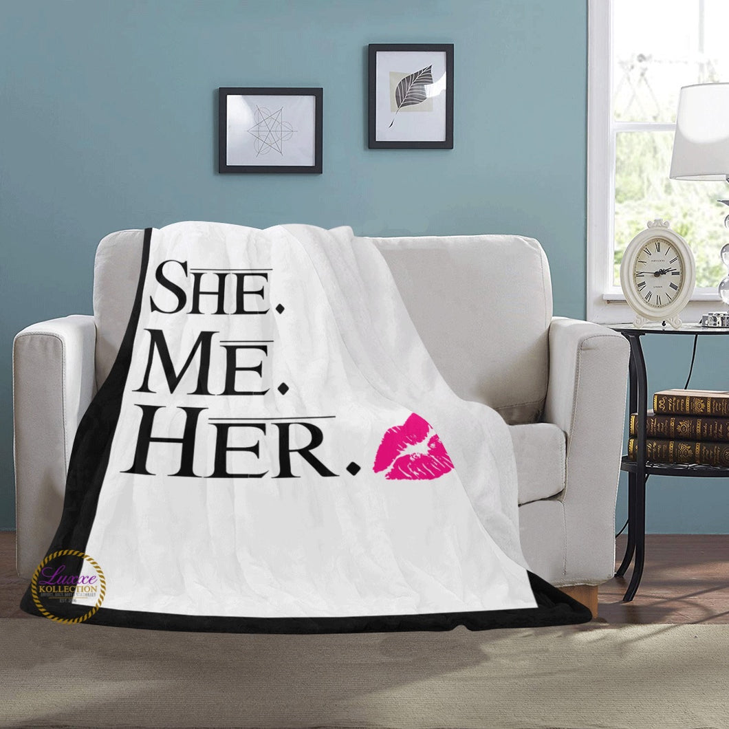She Me Her Fleece Blanket