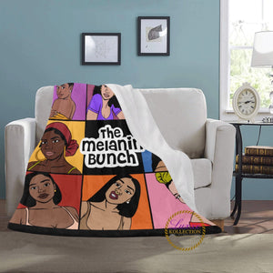 The Melanin Bunch Fleece Blanket