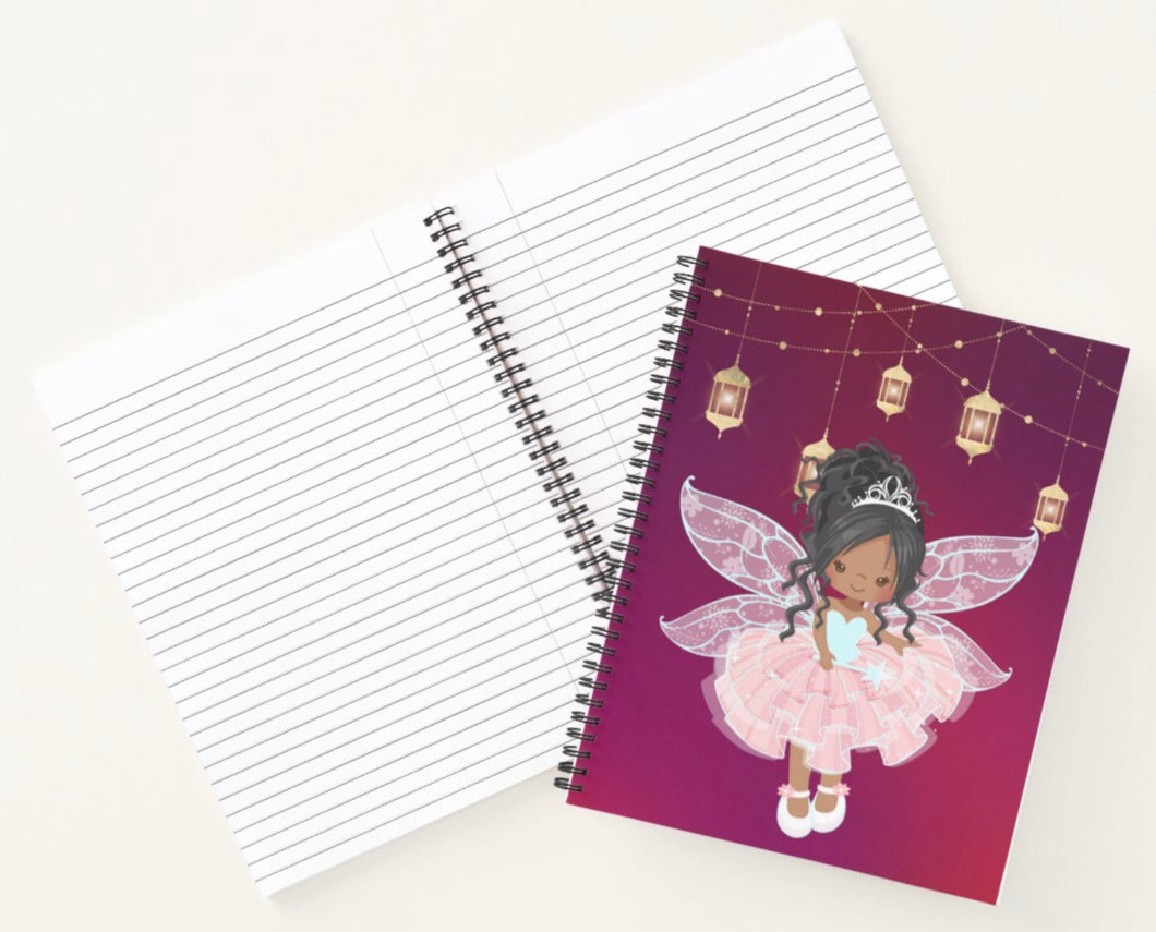 Cocoa Fairy Spiral Notebook (Dark Pink)