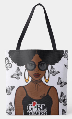 Girl Power Shoulder Tote Bag