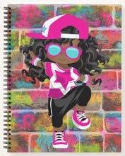 Load image into Gallery viewer, Hip Hop Girl Spiral Notebook 3