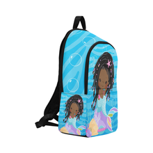 Load image into Gallery viewer, Angel The Chocolate Mermaid Backpack