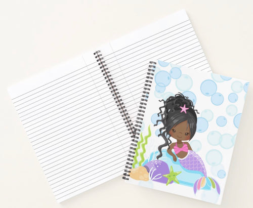 Cocoa Mermaid W/Ponytail Spiral Notebook