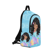 Load image into Gallery viewer, Angela The Chocolate Mermaid Backpack