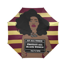 Load image into Gallery viewer, Protect All Black Women Shower Curtain Umbrella