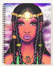 Load image into Gallery viewer, Boho Melanin Princess Spiral Notebook