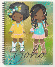 Load image into Gallery viewer, Boho Chic Spiral Notebook