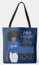 Load image into Gallery viewer, Zeta Phi Beta I Made The Right Choice Shoulder Tote Bag