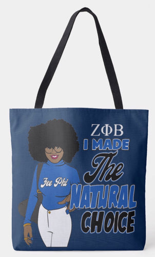 Zeta Phi Beta I Made The Right Choice Shoulder Tote Bag