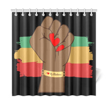 Load image into Gallery viewer, I Love My Blackness Shower Curtain