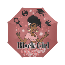 Load image into Gallery viewer, Pink Black Girl Magic Umbrella