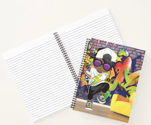 Hip Hop Boy Spiral Notebook 1