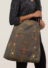 Load image into Gallery viewer, Green Goddess Crossbody Tote Bag