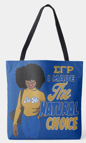 Sigma Gamma Rho Shoulder Tote Bag