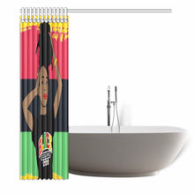 Load image into Gallery viewer, Black Excellence Shower Curtain