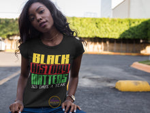 Load image into Gallery viewer, Black History Matters 365 Days A Year T-shirt