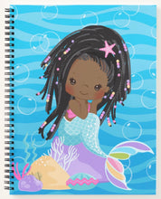 Load image into Gallery viewer, Cocoa  Mermaid W/Locs Spiral Notebook