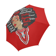 Load image into Gallery viewer, Delta Sigma Theta Sorority Afro Umbrella