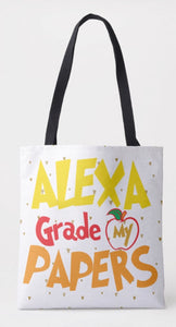 Alexa Grade My Papers Shoulder Tote Bag