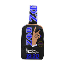 Load image into Gallery viewer, Zeta Phi Beta Hand Sign Chest Bag