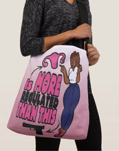 Load image into Gallery viewer, A Woman's Body Is More Regulated Than Guns Crossbody Tote Bag