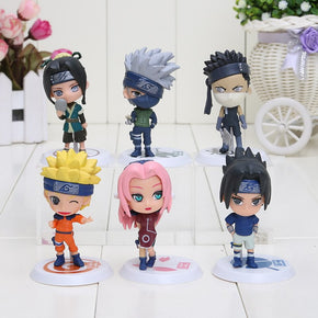 Anime Naruto 6pcs/SET Small Figures