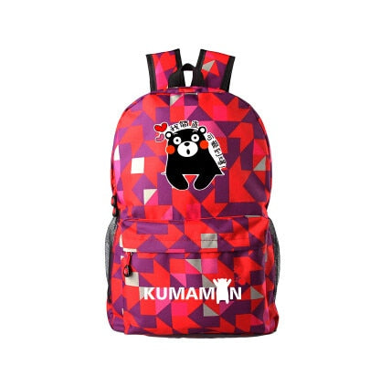 Anime Kumamon Black Bear School Bag