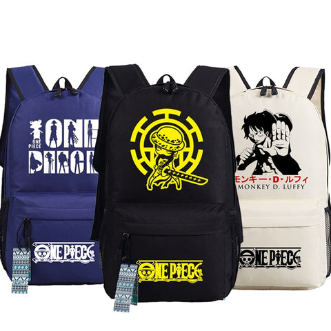 Anime One Piece School Backpacks