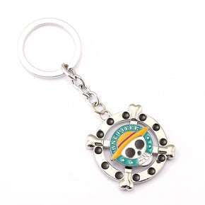 Anime One Piece Rotatable Keychain