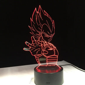 Anime Dragon Ball Vegeta 3D Optical Lamp