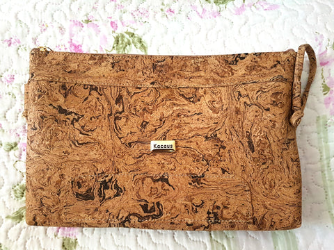 Cork Bag Cork Handbag Crossbody Vegan Leather Purse Cork Fabric Shoulder Clutch Women Satchel Gift for Her