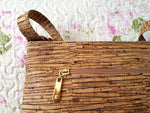 Cork Crossbody Bag Cork Handbag Purse Handmade Vegan Natural Shoulder Clutch Women Satchel Eco Friendly Leather