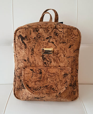 Cork Backpack Cork Handmade Handbag Cork Bag 100% Natural Cork Rustic Design