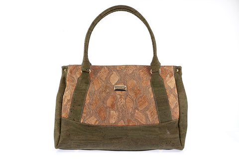 Cork Bag Cork Handbag Vegan Leather Handmade Purse Cork Fabric Tote Shoulder Clutch Strap Women Satchel Eco Friendly