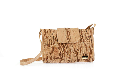Cork Bag Cork Handbag Purse Handmade Vegan Leather Crossbody Shoulder Clutch Women Bag made with Cork Fabric