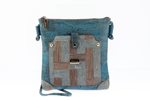Cork Bag Cork Crossbody Handbag Vegan Leather Purse Cork Fabric Shoulder Clutch Women Satchel
