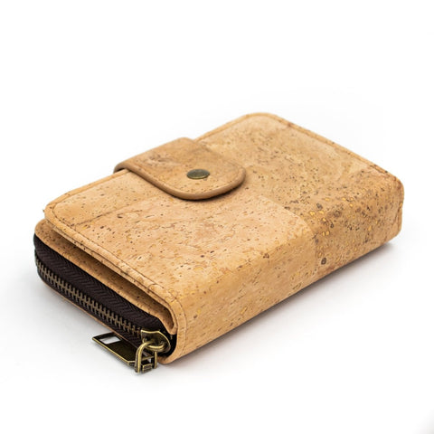 Cork Wallet Vegan Wallet Coin Purse Vegan Leather Natural Cork Fabric Card Holder Cork Bag Womens Wallet Vegan Gift