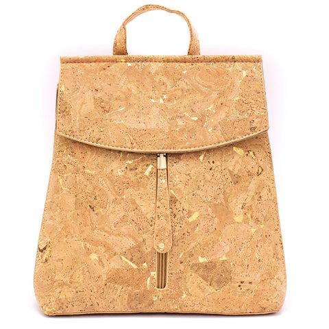 Cork Backpack Cork Handbag Vegan Leather Purse Cork Fabric Eco Friendly Bag Gift for Her