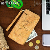 Cork Wallet Vegan Wallet Coin Purse Vegan Leather Cork Fabric Cork Bag Womens Wallet Vegan Gift Natural with Gold