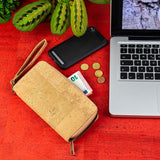 Cork Wallet Vegan Wallet Womens Wallet Coin Purse Vegan Leather Cork Fabric Cork Bag All Natural