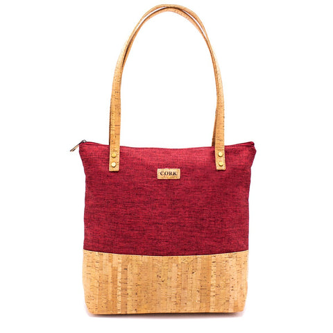 Cork Bag Cork Handbag Purse Vegan Tote with Pattern Designs Shoulder Bag Women Satchel Eco Friendly Leather