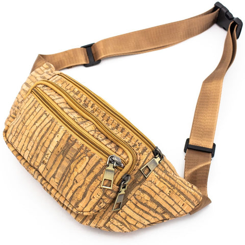 Fanny Pack Cork Waist Travel Bag Vegan Bag Cork Fabric Belt Bag Waist Pack Waist Pouch Hip Bag Bum Bag Cork Handbag