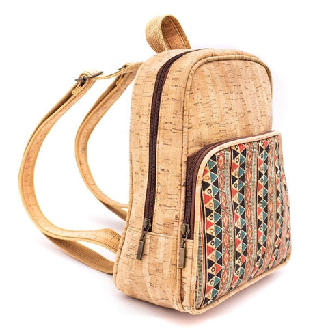Cork Backpack Cork Handmade Handbag Cork Bag Vegan Leather Natural Cork with Pattern Designs