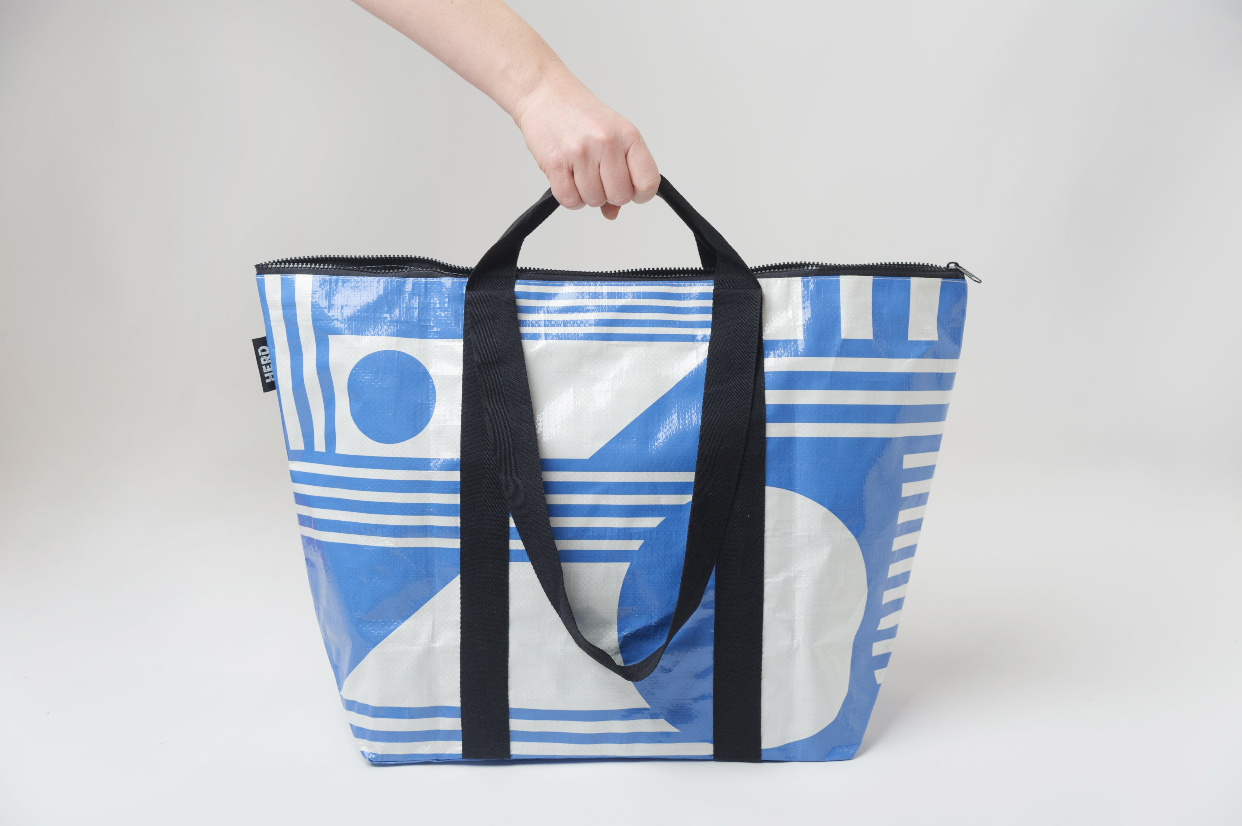 HERD tote bag 'The Santorini' Medium zip top